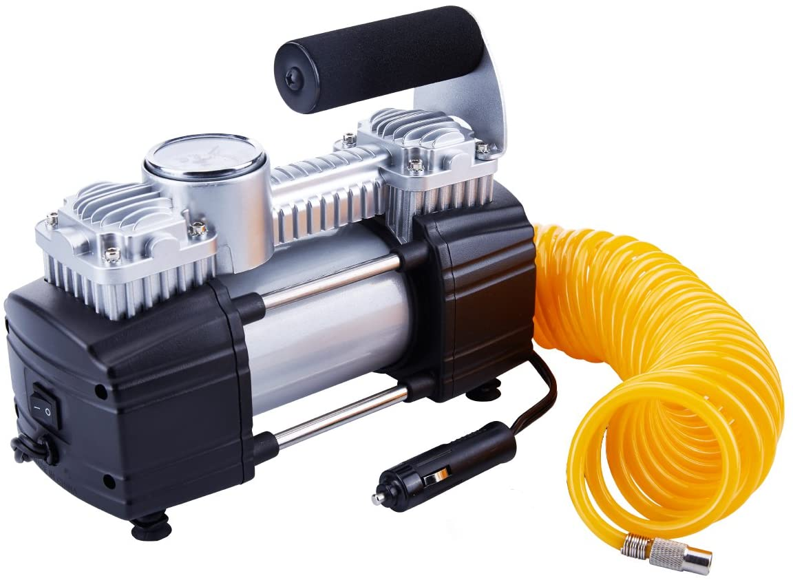 TIREWELL 12V Tire Inflator-Heavy Duty Double Cylinders