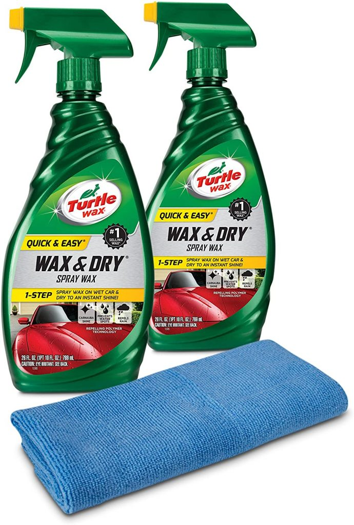 Turtle Wax 50834 is the best spray wax and it is 1-Step Wax & Dry