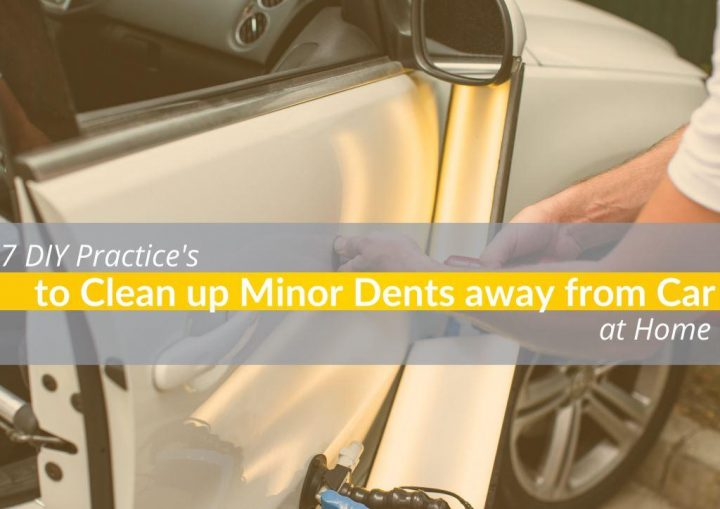 Getting dent out of a car door by using a dent removal kit which is quick and reliable solution.