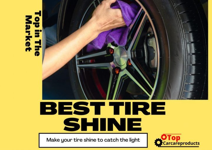 Applying the best tire shine to bring the tire shine back to life