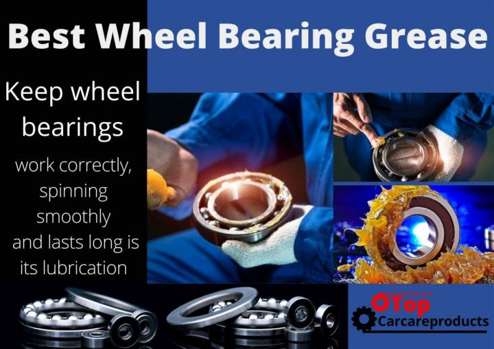 Applying grease on wheel bearings to keep them spinning smoothly