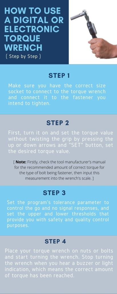 How to use a digital or electronic torque wrench ( Step by Step )