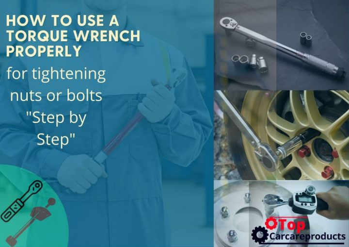 Using a torque wrench to fasten lug nuts, screws, bolts, or nuts for applying a specific torque.