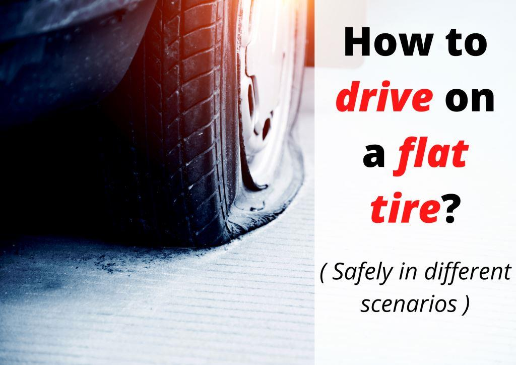 How far can you drive on a flat tire without damaging the wheel